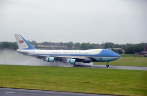 Air Force One at Belfast International Airport