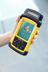 CEM portable readers enable on-site airport security staff to validate access control cards at remote parts of the site