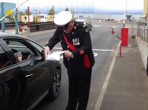 One of Corps Security's officers on duty at the recent conference