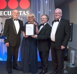 Dale Murphy (left) with members of the Highly Commended BT Alexander Bain House Security Team