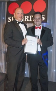 Highly Commended entrant John Turnbull with Securitas' Darren Read