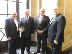 Left to Right: Graham Bassett, Don Randall MBE, Mike Alexander and Mike Hurst