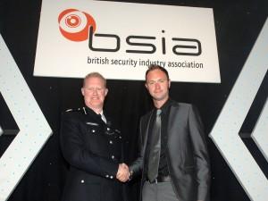 Commander Steve Rodhouse congratulates VSG's Gareth Stead-Clark