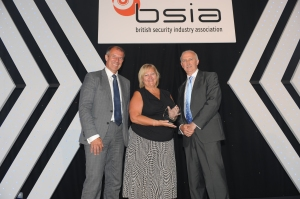 Julie Kenny CBE DL with Geoff Zeidler (left) and James Kelly