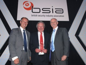 Left to Right: Geoff Zeidler (chairman of the BSIA), Cooper Security's Stewart Taylor and BSIA CEO James Kelly