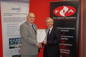 Geoff Rendall (left) of the SSAIB with Michael Clifford
