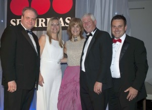 Left to Right: Brian Sims (IFSECGlobal), Jody Booth, Diane Groom and Mick Watson (WYPTE) and Securitas' Darren Read