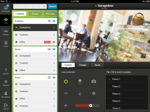 Cameramanager on iPad and tablet