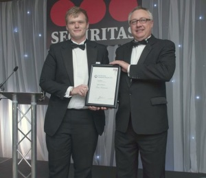 Tom Grierson (Highly Commended) and Mark Towers of sponsor Innovise