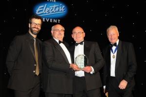 Left to Right: Marcus Brigstocke, Pat Allen (FSA chairman), Raymond Clarke and Phil Fagg (president of the ECA)