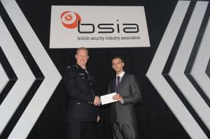 Ryan Jenkins (right): Apprentice Installer Award winner, pictured here with Commander Steve Rodhouse