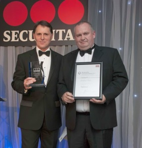 Paul Baker and Graham Hine won the Securitas Community Award for Vigilance