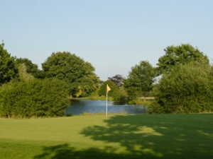 One of the greens at The Hertfordshire Golf and Country Club