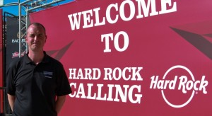 Showsec's Steve Reynolds at Hard Rock Calling 2013