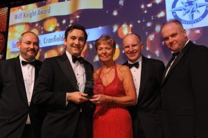 Ian Middleton (second left) collects the 2012 Wilf Knight Award from Patricia Knight and Mike Bluestone CSyP (left)