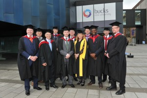 This year's crop of graduates who studied for Masters degrees in Business Continuity, Security and Emergency Management at Buckinghamshire New University
