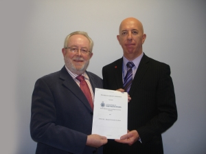 Kevin Eastwood (left), executive director of BOSS with Chris Hearn, deputy head at AVCIS