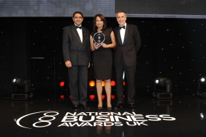 MITIE's CEO Ruby MacGregor-Smith CBE accepts the Leadership Diversity Award