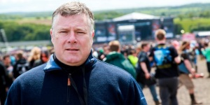 Showsec's managing director Mark Harding at this year's Download Festival
