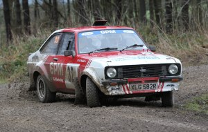 Graeme Powell drives the Escort MkII RS2000 in the Riponian Rally