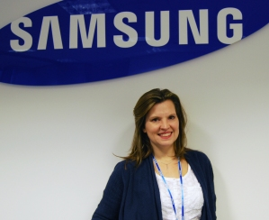 Kirsty Elkin: joining the team at Samsung Techwin Europe
