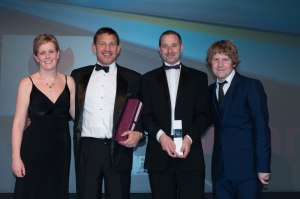 MITIE TSM's Darren Gamage (second from right) picks up the award