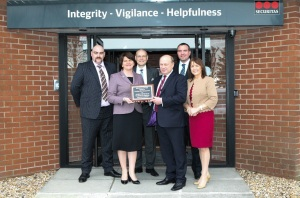 Left to Right: Danny Williams, Minister Arlene Foster, Brian Riis Nielson, David Lee, Shaun Kennedy and Ann McGregor