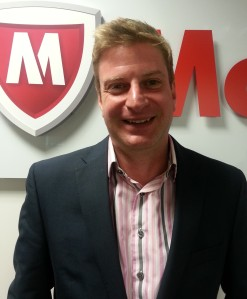 Tim Stone: SME director for the EMEA region at security specialist McAfee