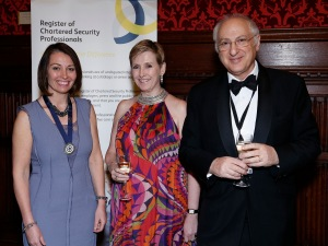 Left to Right: Emma Shaw CSyP, Lady Carlile and Lord Alex Carlile CBE QC