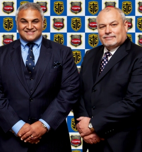 Richie Nanda (left) with John Roddy, CEO of The Shield Group