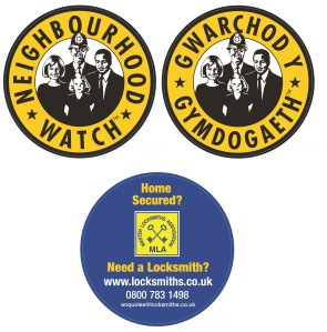 The stickers used in the campaign