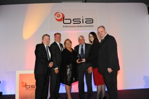 Left to Right: Bobby Logue (md, Interconnective), Geoff Zeidler (GZC Consultants), Julie Kenny CBE DL (chairman, Pyronix), Tim Geddes, BSIA chairman Pauline Norstrom and Brian Sims Hon FSyI, Editor of Risk UK