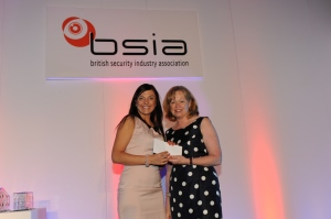 VSG's Emilija Zemaitaityte accepts her Best Newcomer Award from the Baroness