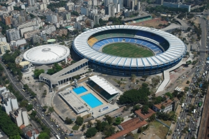The world famous Maracana Stadium in Brazil
