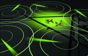 Multi-radar surveillance at an airport