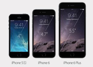 The iPhone 6 is larger than the iPhone 5S