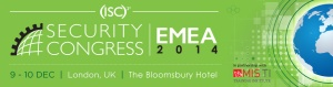 The ISC2 Security Congress EMEA 2014 takes place in London during early December
