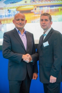 Siemens Security Products CEO Peter Hawksworth (left) with Phil Carroll, head of the intruder detection product line