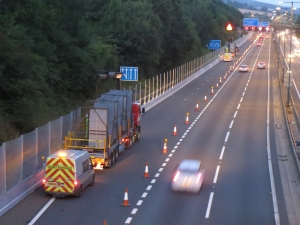 Zaun's high security fencing designed to protect the Celtic Manor Resort was installed during night closures on the M4