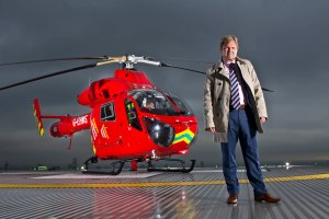 CIS Security's executive chairman Carl Palmer with London's Air Ambulance