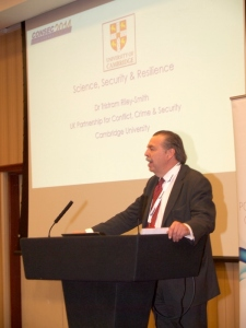 Dr Tristram Riley-Smith spoke about the UK Partnership for Conflict, Crime and Security Research