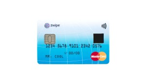 Detail of the new biometrics-based contactless payment card developed by MasterCard and Zwipe