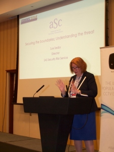 Sue Seaby of SAS Security Risk Service speaking at Consec 2014