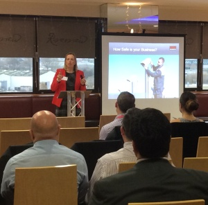 Grainne Kelly speaking at the recent Securitas business seminar