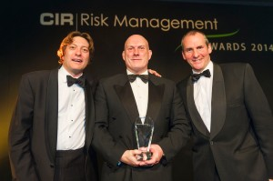 Dr Peter Speight CSyP (centre) receives the Risk Manager of the Award 2014