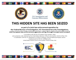 Silk Road 2.0 seized notice