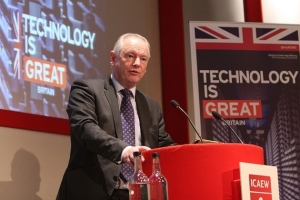 Francis Maude MP delivering his speech at the Institute for Chartered Accountants in England Wales, central London