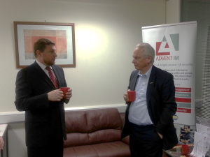Advent IM's Mike Gillespie talks cyber security with Cabinet Office minister Francis Maude