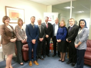 The Advent IM team members meet Francis Maude MP