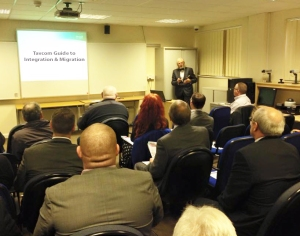 CCTV expert Jon Laws speaking at Tavcom's recent Education Information Day